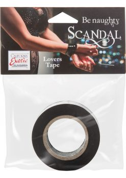 Scandal Be Naughty Lovers Tape Restraint Black 4 Feet