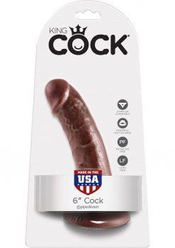 King Cock Realistic Dildo Waterproof Brown 6 Inch