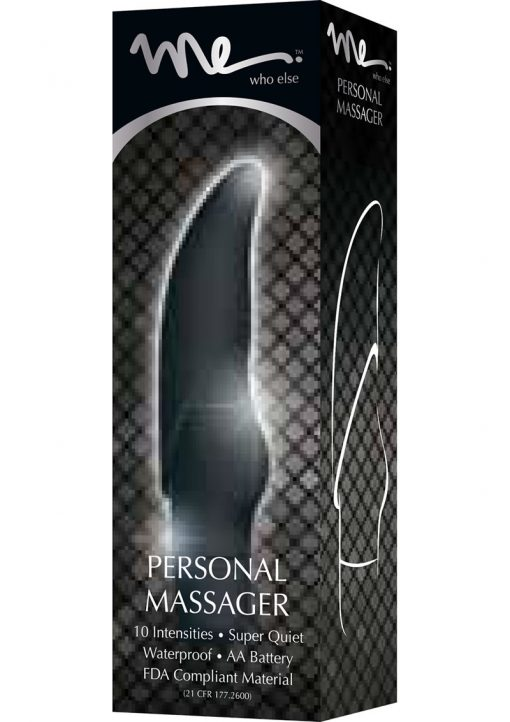Me G-Spot Silicone Personal Massager Waterproof Black