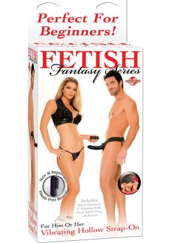 Fetish Fantasy Vibrating Hollow Strap On 6.5 Inch Black