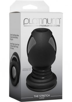 Platinum Premium Silicone the Stretch Anal Expander Plug Large Black 4.6 Inch