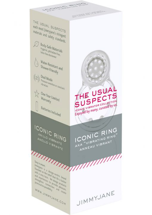 JimmyJane The Usual Suspects Iconic Ring Clear