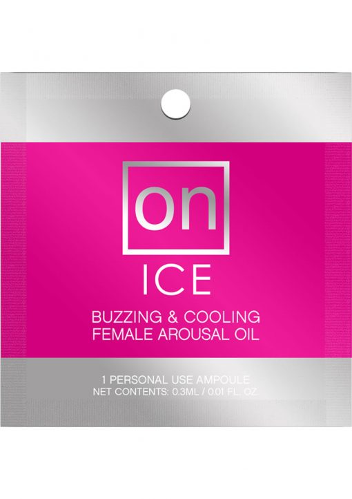 Sensuva On Ice Buzzing and Cooling Female Arousal Oil .3ml 24 Per Refill