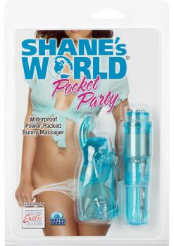 Shanes World Pocket Party Bunny Massager Waterproof Blue 3.75 Inch
