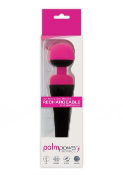 Palm Power Recharge Massager Silicone Body Wand Fuschia