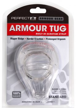 Perfect Fit Armour Gear Armour Tug Built in Scrotum Strap Standard - Clear