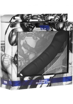 Tom Of Finland 5 Speed Silicone Vibe Black 9.5 Inch