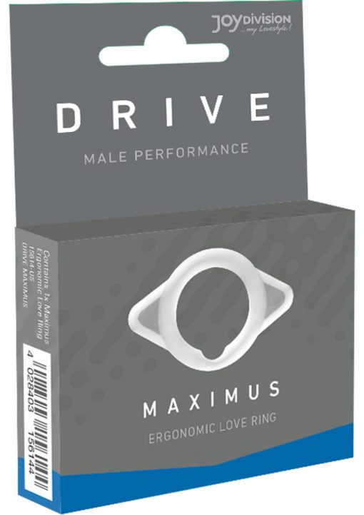 Drive Maximus Male Performance Silicone Eronomic Love Ring White