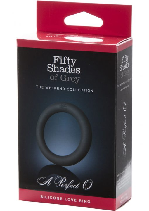 Fifty Shades Of Grey Silicone Cockring Black