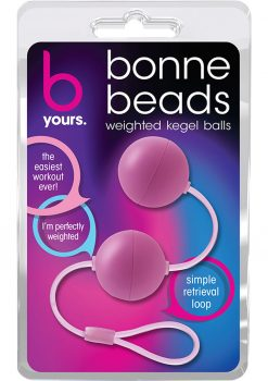 B Yours Bonne Beads Weighted Kegal Balls Pink 7.5 Inch