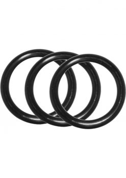 Performance VS1 Silicone Cockrings Black 3 Each Per Pack Black