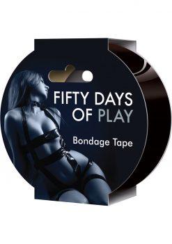 Fifty Days Of Play Bondage Tape Black