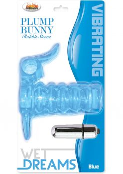 Wet Dreams Vibrating Plump Bunny Rabbit Sleeve Blue