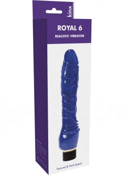 Kinx Royal 6 Realistic Vibrator Waterproof Blue 6 Inch