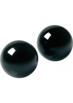 Master Series Jaded Glass Ben Wa Balls Black