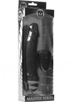 Master Series Ivan 10x Silicone Remote Vibe Black