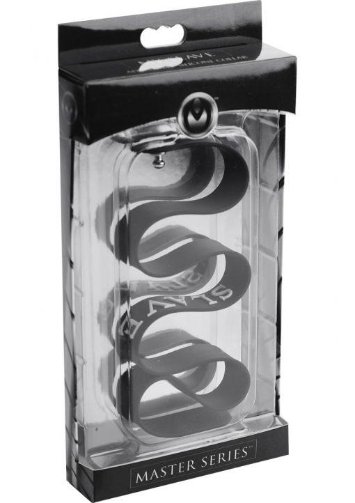 Master Series Slave Silicone Collar Black 17.5 Inches