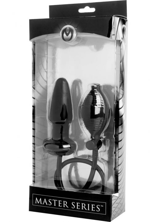Master Series Expand Inflatable Anal Plug Black 3.5 Inches