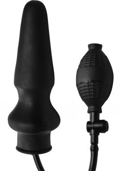 Master Series Expand Xl Inflatable Anal Plug Black 6 Inches