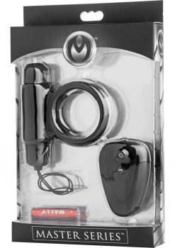 Master Series Incite Silicone Cock Ring Waterproof Black