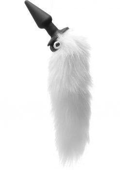 Frisky Foxxxy Fanny Tail Vibrating Anal Plug White