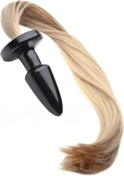 Frisky Butt Plug With Blonde Pony Tail 22 Inch