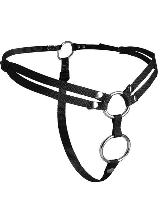 Strap U Unity Double Penetration Strap On Harness Black