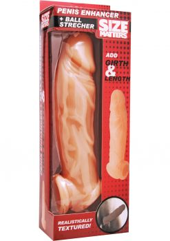 Size Matters Penis Enhancer Ball Stretcher Flesh 8 Inch