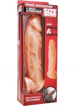 Size Matters Penis Enhancer Ball Stretcher Flesh 8 Inch