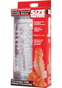 Size Matters Clear sensations vibrating Textured Erection Sleeve TPR Clear