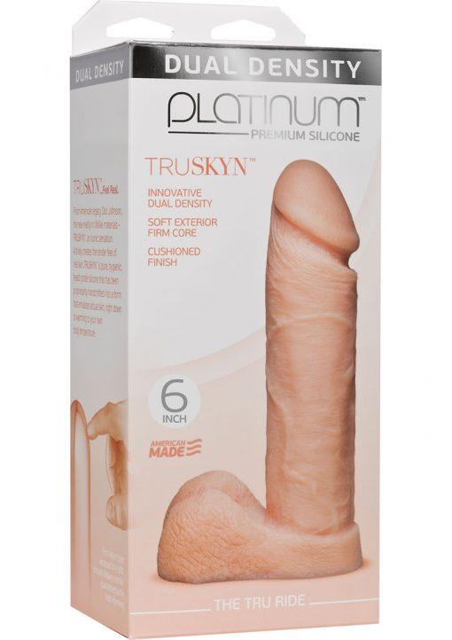 Platinum Truskyn Tru Ride Silicone Flesh 6 Inch
