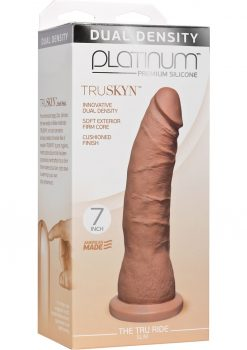 Platinum Truskyn Tru Ride Silicone Slim Brown 7 Inch