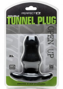 Perfect Fit Double Tunnel Plug XL - Black