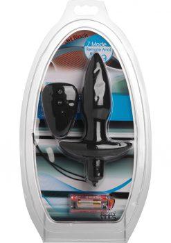 Trinity Vibes Jet Black 7x Silicone Remote Anal Plug