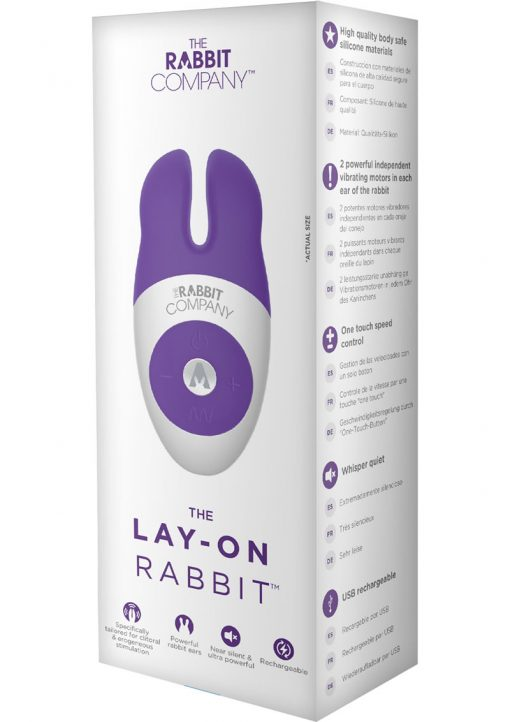 The Lay On Silicone Rabbit Vibe Purple