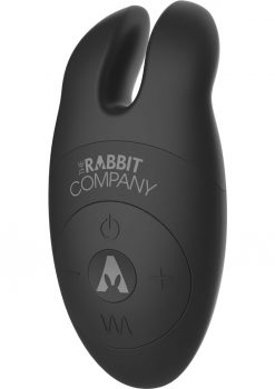 The Lay On Silicone Rabbit Vibe Black
