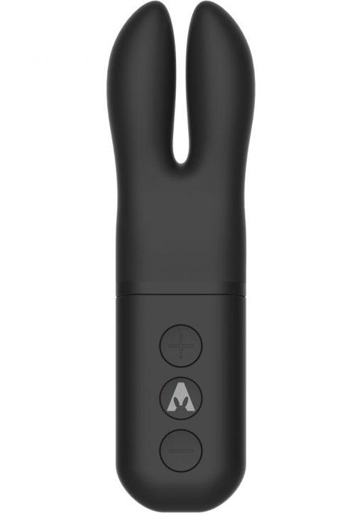 The Pocket Rabbit Silicone Vibe Waterproof Black