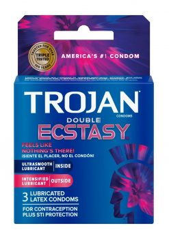 Trojan Double Ecstasy Condoms 3 Pack
