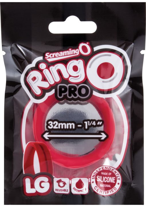 Ring O Pro Large Silicone Cockrings Waterproof Red 12 Each Per Box