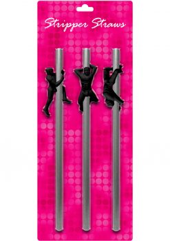 Stripper Straws Male 3 Each Per Pack