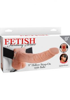 Fetish Fantasy Series Hollow Strap On With Balls Flesh 9 Inch