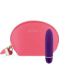Rianne S Classique Silicone Mini Vibrator Deep Purple