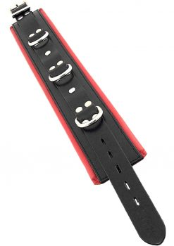 Rouge 3 Ring Padded Collar Black And Red