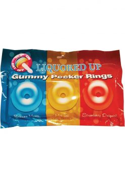 Liquored Up Gummy Pecker Rings Assorted Colors Assorted Flavors