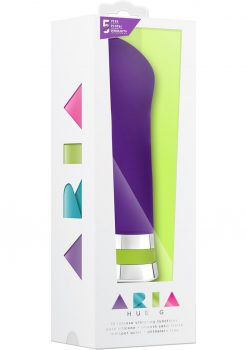 Aria Hue G Silicone G Spot Vibe Waterproof Plum 6.5 Inch