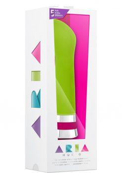 Aria Hue G Silicone Vibe Waterproof Green 6.5 Inch