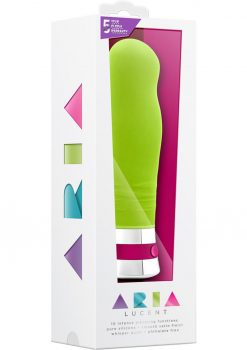 Aria Lucent Silicone Vibrator Waterproof Green 6 Inch