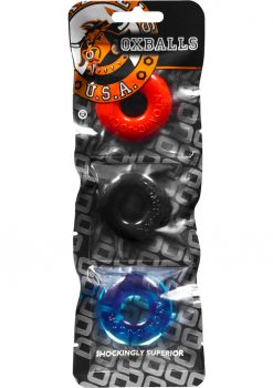 Ringer Donut Cockring 3 Pack Multi Color