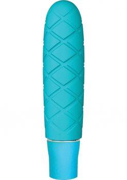 Luxe Cozi Mini Silicone Vibe Waterproof Aqua 4.75 Inch