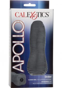Apollo Stroker Closed End Textured Masturbator Grey 6.25 Inch